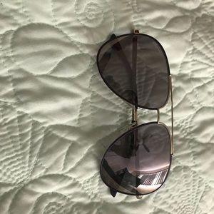 Salvatore Ferragamo Purple & Gold Sunglasses